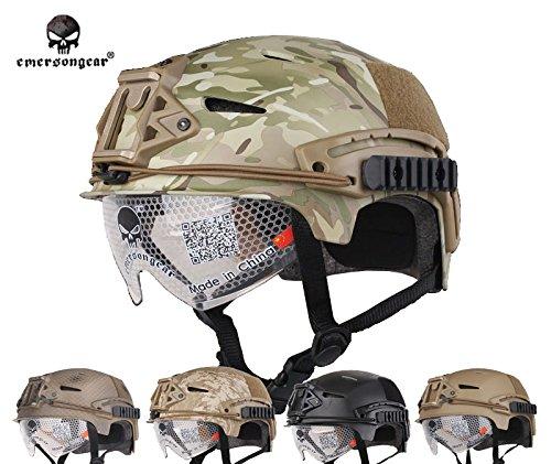 1 opinioni per softair caccia casco tattico EMERSON EXF BUMP casco combattimento e occhiali