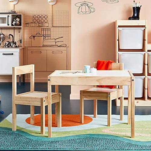 White Pine 2 X IKEA L/ÄTT Childrens Table with 2 Chairs 501.784.11