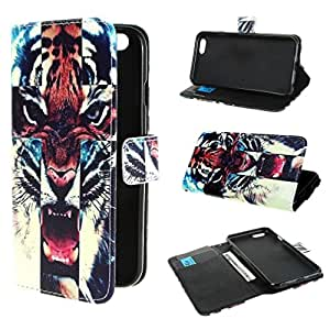 PpIiNnKk Tiger Design PU Leather Stand Flip Case Cover for Apple iPhone 6 (4.7 inch) / iPhone Air