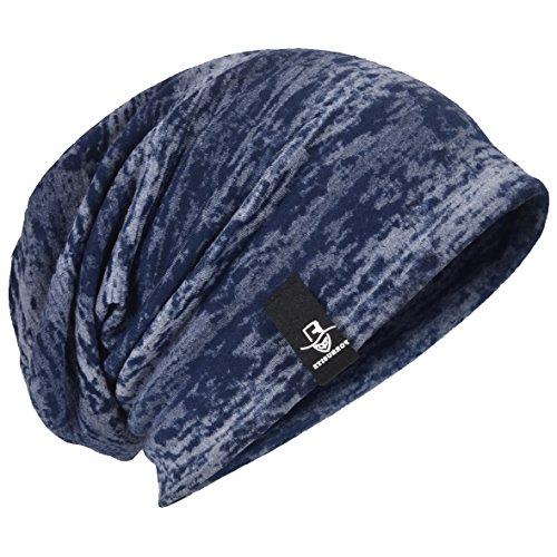 HISSHE - Gorro de Punto - para Hombre azul marino