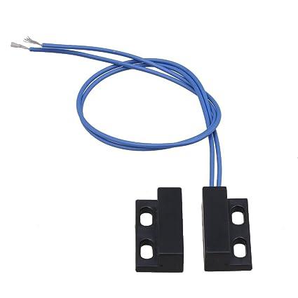 SGerste AC110-220V NC - Interruptor magnético para puerta de coche, color negro