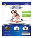zippered allergen mattress cover - Twin Extra Long (XL) Mattress Protector Bedbug Waterproof Zippered Encasement Hypoallergenic Premium Quality Cover Protects Against Dust Mites Allergens