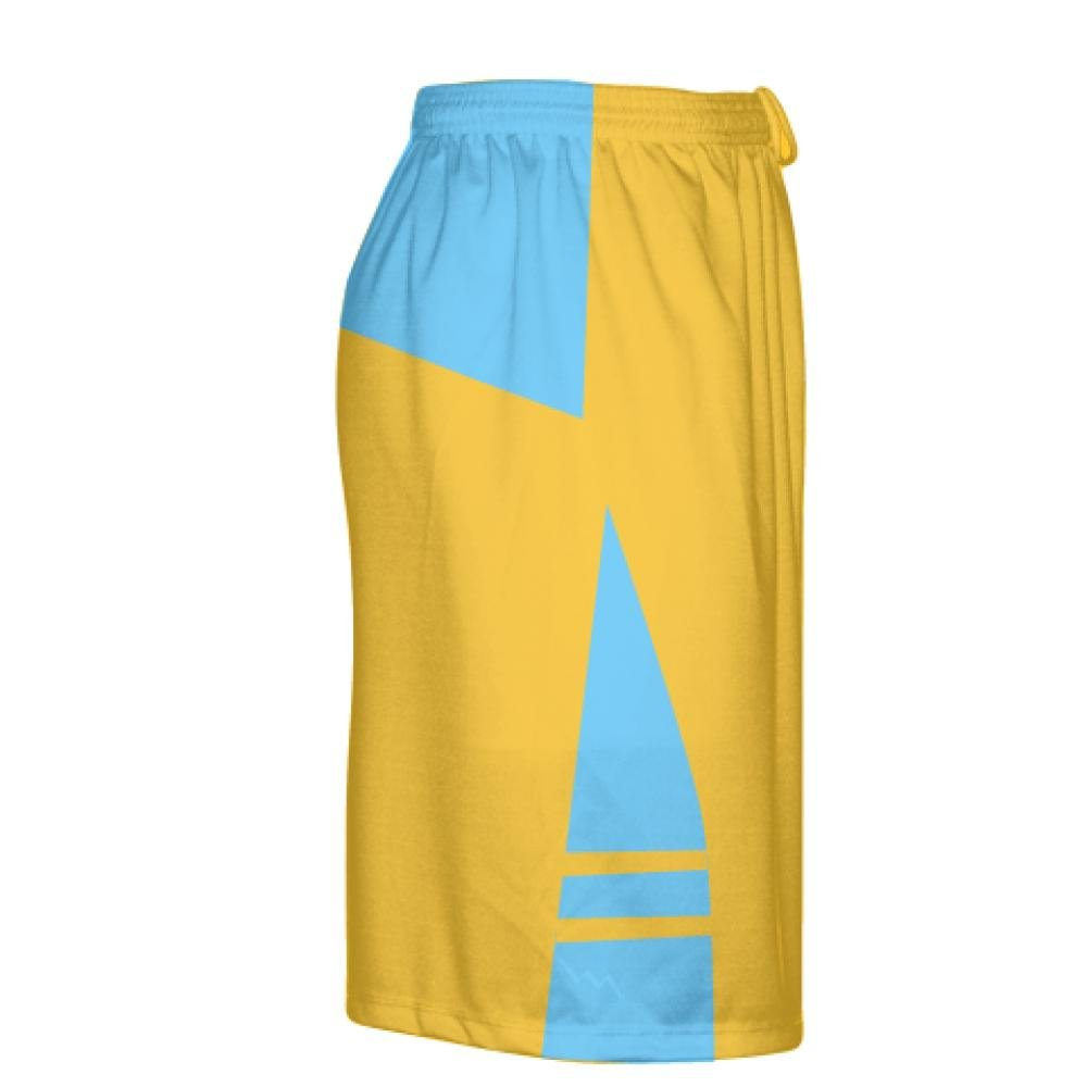 Youth Athletic Gold Light Blue Boys Mens Lacrosse Shorts Youth Gold
