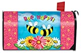 Briarwood Lane Bee Happy Bees Spring Magnetic Mailbox Cover Standard