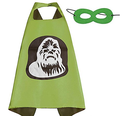 [Over 35+ Styles Superhero Halloween Party Cape and Mask Set for Kids (Chewbacca)] (Kids Halloween Devil Costumes)