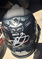 DALE EARNHARDT JR Signed Autographed Dark Knight Batman Mini Helmet - JSA Certified - Autographed NASCAR Helmets from Sports Memorabilia