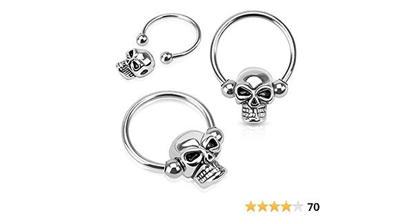 Non Piercing Nipple Skulls Skull Nipple Rings Pirate Nipple Jewelry Pierced Nipple Skulls Pirate Nipple Rings Day of the Dead Nipple