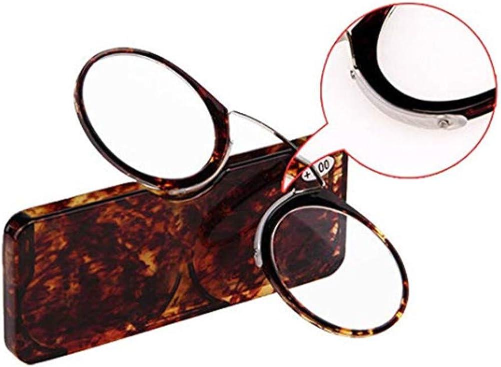 YUNCAT Occhiali da lettura senza astine e senza montatura Occhiali da vista per uomo e donna Ultra leggero portafoglio lettore con caso andare ovunque 5 diottrie 4 colori