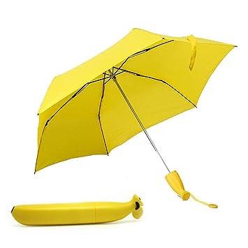 519eed245863 BonZeaL Banana Shaped Monsoon Umbrella Windproof Rainy Day Umbrella for  Women Girl Outdoor Uv Protection Umbrella Quirky Gifts for Monsoon Kids ...