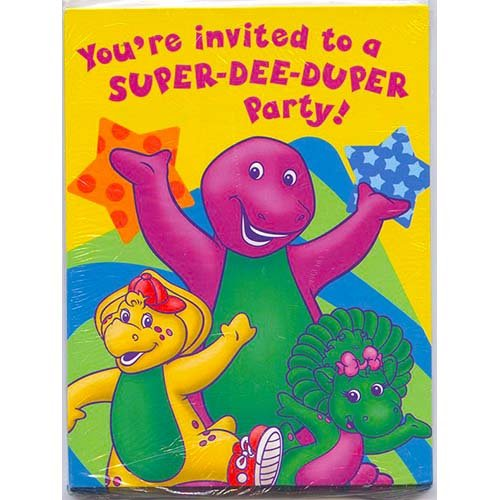 Barney Invitations, 8ct -