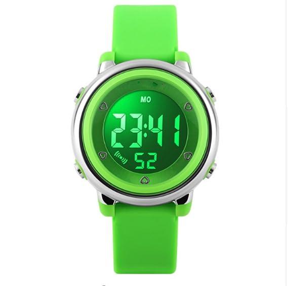 Reloj digital con temporizador para niños con LED digital deportivo para niños y niñas, a