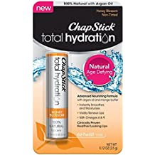 ChapStick Total Hydration (Honey Blossom Flavor, 1 Blister Pack of 1 Stick) Flavored Lip Balm Tube, 100% Natural Lip Care, Clinically Proven, 0.12 Ounce