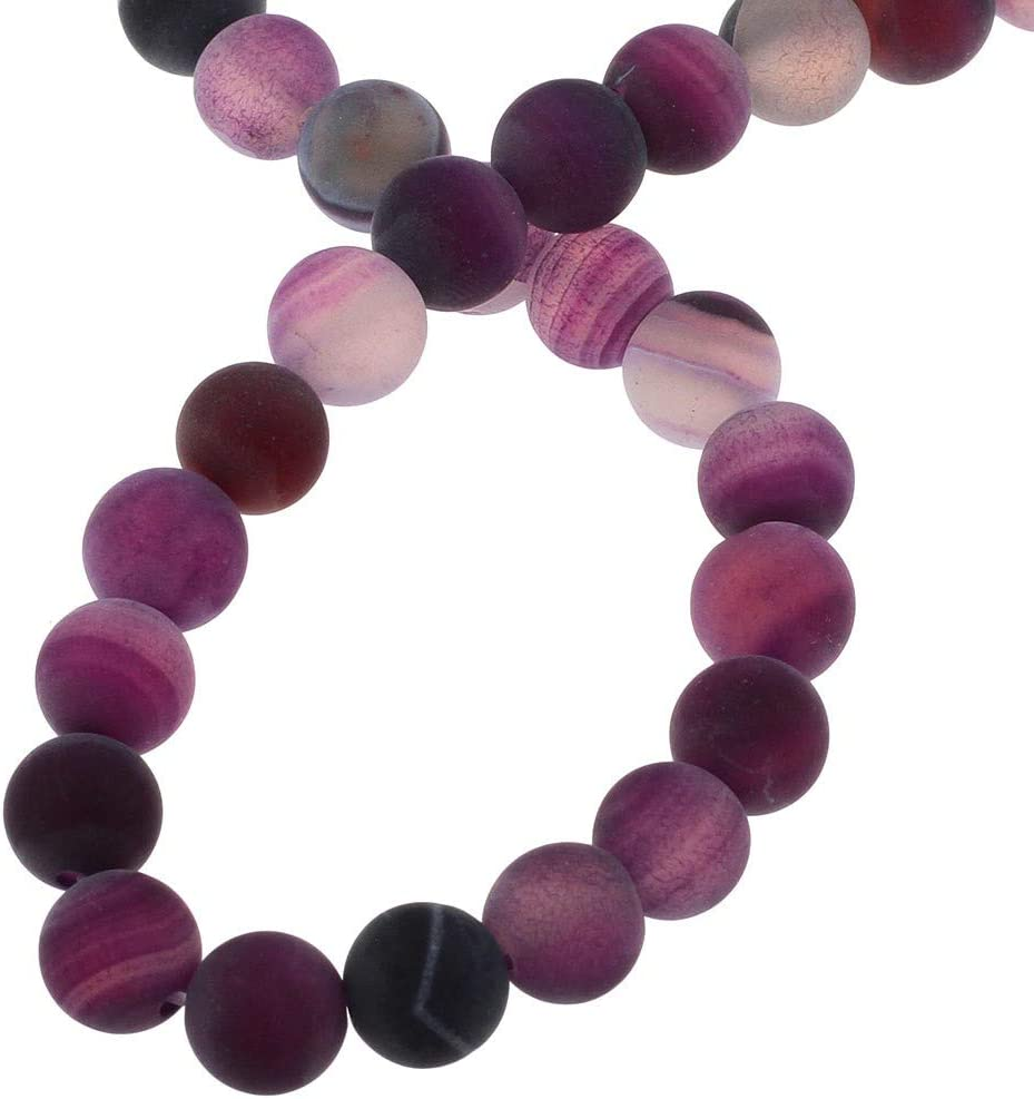 Naturwunder - Perlas de ágata de piedra preciosa, 8 mm, 6 mm, 4 mm, pulidas y mate, forma de bola para joyas, pulseras, cadenas, joyas, varios colores, piedra, Violeta, lila mate., 4mm 25 Stück