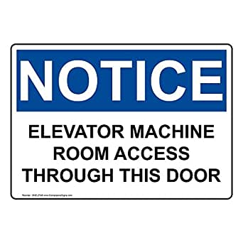 Amazon.com: compliancesigns aluminio OSHA Aviso signo, 14 x ...