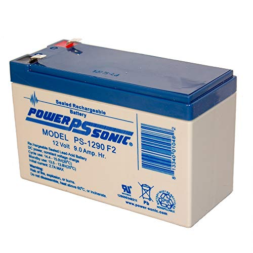 Power-Sonic PS-1290 12 Volt 9 Amp Hour Rechargeable SLA Battery (F2 Terminals)