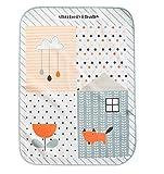 Cute Waterproof Breathable Infant Crib Sheet Baby Mat 70 x 90 CM-Pink Deer