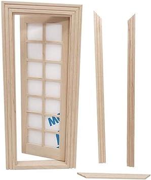Amazon.es: SUPVOX Muebles de jardín de Hadas Miniatura Puerta Ventana Ornamento 14 Puerta de Panel de celosía para Mini decoración de la casa Suministros de jardín de Hadas: Juguetes y juegos