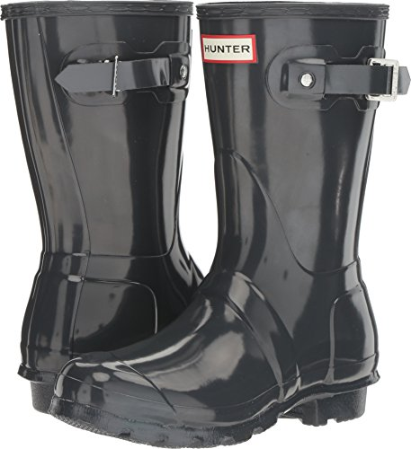Hunter Women's Original Short Gloss Dark Slate Rain Boots - 10 B(M) US
