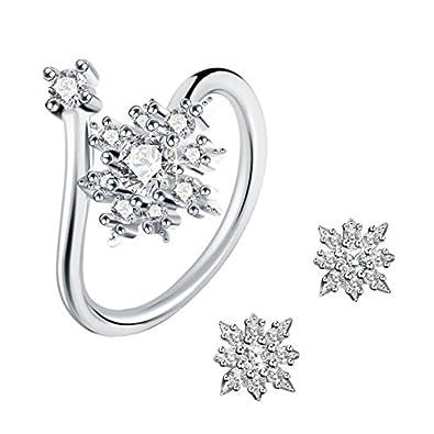 Amazon schmuck  Ring Set 925 Silber J.Rosée® Ohrringe Ohrstecker Ohrschmuck Damen ...