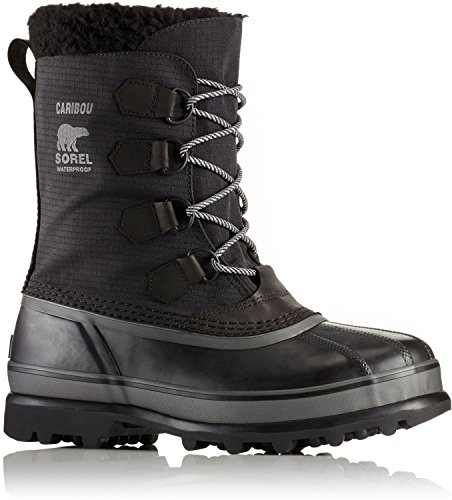 SOREL Men's Caribou Reflective WL Boots, Black, 9 D(M) (Sorel Caribou Wool)
