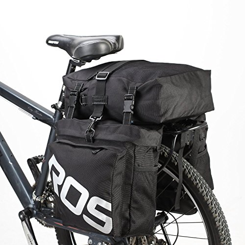 Bike Saddle Bag Bicycle Pannier Rear Rack Bag/Large Seat Cycling Carrier Bag 3 in 1 Luggage Bag-Black (1 Seat Bag)