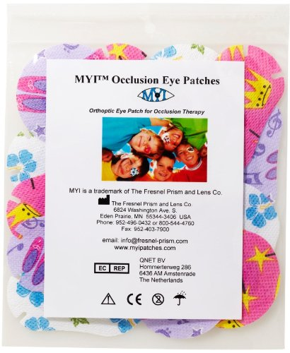 MYI Occlusion Eye Patches - Girls #2, Regular Size (51 Per (Eye Patches For Kids)