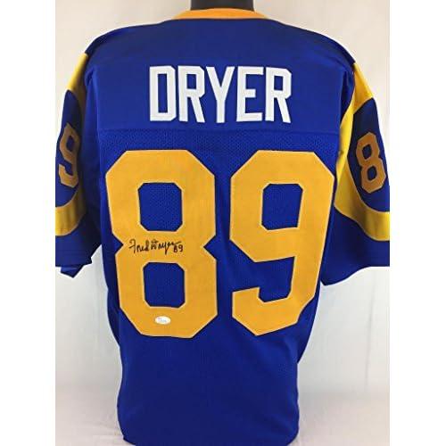 sports shoes 1cbdd 9c0b0 Fred Dryer Autographed Jersey - Blu Jsa Coa La - Autographed ...