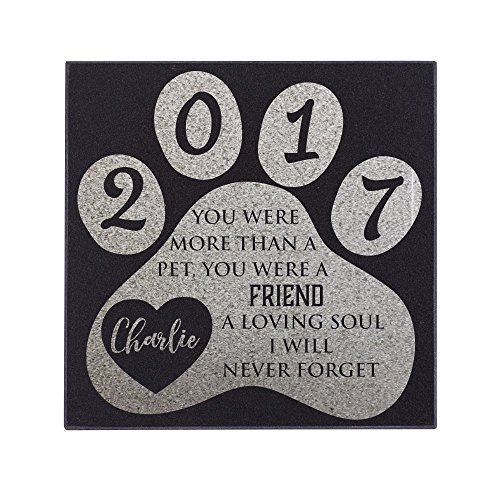 P Lab Personalized Granite Pet Memorial Stone A Loving Soul Customized Tombstone - Loss of Pet Gift- Indoor Outdoor Dog or Cat For Garden Backyard 6