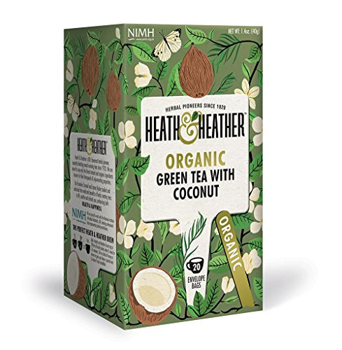 Heath & Heather Organic Green Tea & Coconut (Pack of 3) Health Green Tea