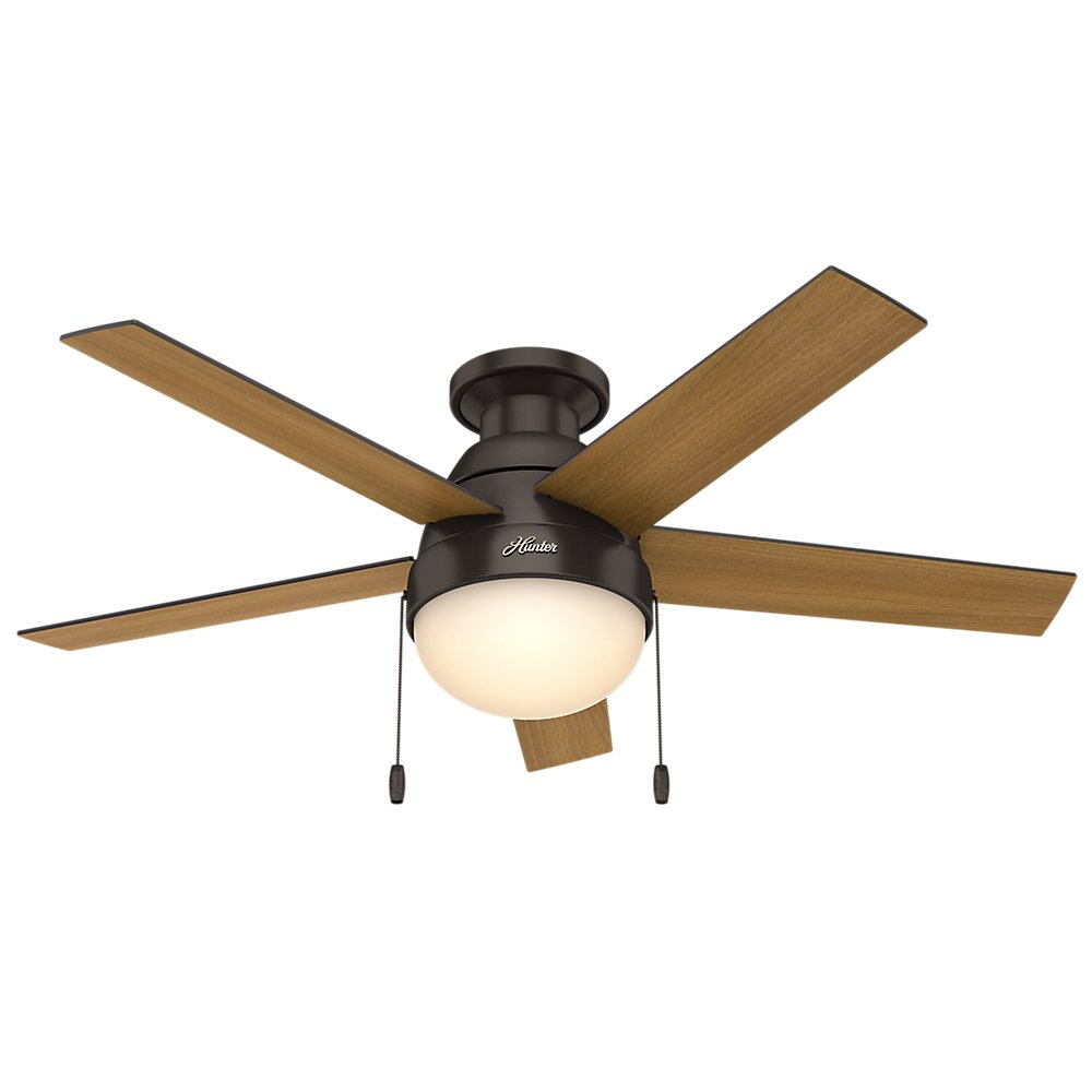 Hunter 59268 anslee low profile premier bronze ceiling fan with hunter 59268 anslee low profile premier bronze ceiling fan with light 46 amazon aloadofball