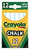 Crayola White Chalk 12 Pieces in a Box (Pack of 12) 144 Chalk Sticks in Total