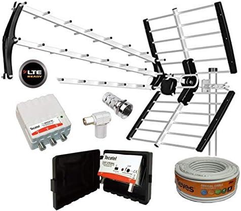 Kit Antena TECATEL BKM-18 Negra + Rollo Cable TELEVES ...