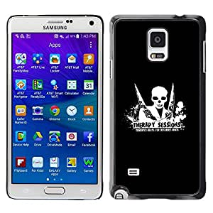 Planetar® ( Therapy Session Demented Beats ) Samsung Galaxy Note 4 IV / SM-N910F / SM-N910K / SM-N910C / SM-N910W8 / SM-N910U / SM-N910G Fundas Cover Cubre Hard Case Cover