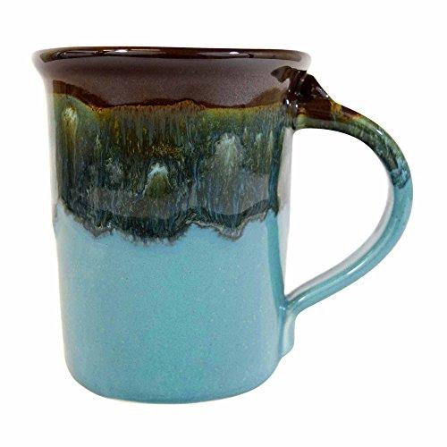 Clay in Motion Handmade Ceramic Small Mug 10oz - Ocean Tide,Blue