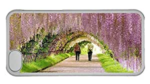 linJUN FENGHipster DIY iphone 4/4s cover Spring Garden PC Transparent for Apple iphone 4/4s