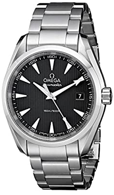 Omega Men's 231.10.39.60.06.001 Aqua Terra Quartz 38.5mm Analog Display Silver Watch