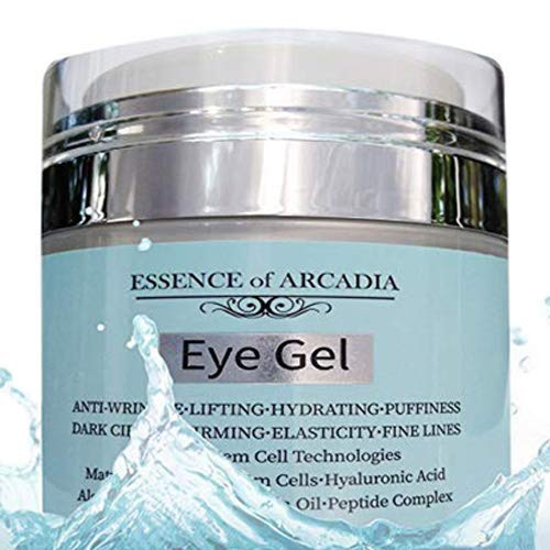 (Eye Gel, for Dark Circles, Puffiness, Wrinkles, Skin Firming and Bags - Effective Anti-Aging Eye Gel for Under and Around Eyes including Crows Feet with Hyaluronic Acid and Aloe Vera- 1.7 fl. oz.)