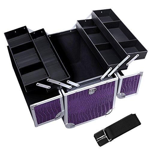 Songmics® Neu Alu Croco Beauty Case kosmetikkoffer Schminkkoffer 36,5 x 22 x 35 cm JBC229