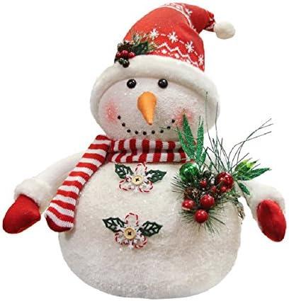 Amazon Com Northlight Alpine Chic Sparkling Snowman With Nordic Style Santa Hat Christmas Decoration 20 Home Kitchen