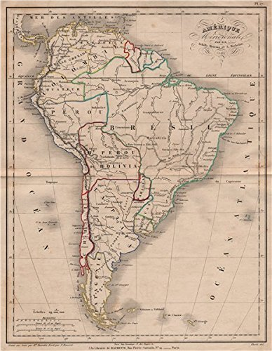 Map Of America In 1861.Amazon Com Amerique Meridionale By Meissas South America