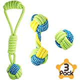 Petagon Puppy Toys, Dog Toys for Small Dogs (3 PCS Value Pack) Tough & Durable Dog Rope Toys, Interactive Ball and Tug Toys for Boredom, Chew Toys for Teething Dogs and Puppies Under 15 KG