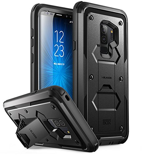 Galaxy S9+ Plus Case, i-Blason [Armorbox] [Full body] [Heavy Duty Protection ] [Kickstand] Shock Reduction / Bumper Case WITHOUT Screen Protector for Samsung Galaxy S9+ Plus (2018 Release)