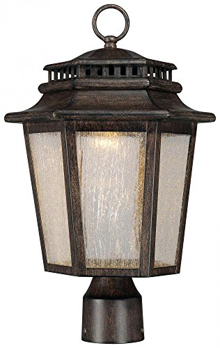 Minka Lavery 8276-A357-L 1 Light Outdoor Post Lantern, Iron Oxide (Bay Post Lantern)