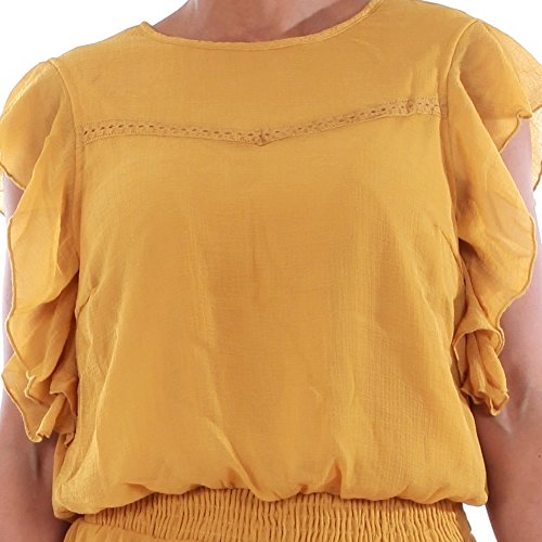 10193957 Mujer DRESS S HARVEST VMARUBA Vestido Moda Dorado S Vero GOLD SHORT HRZIwI