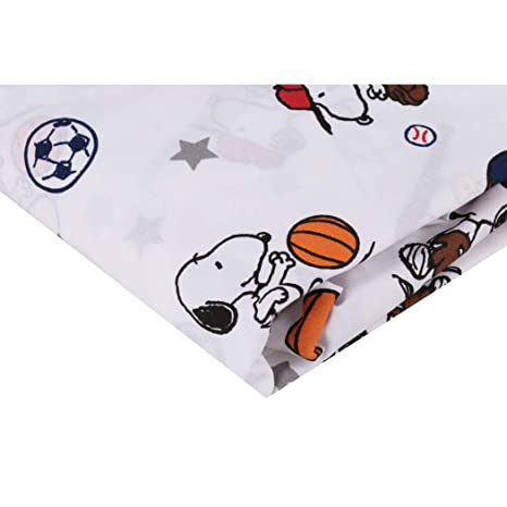 Amazon.com: HT Beautiful White Red Blue Snoopy Sports Fitted ...