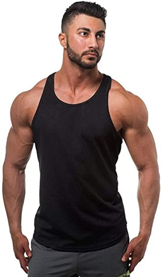 New Gym Singlets Men Tank Top for Bodybuilding and Fitness vest Shirt T-shirt