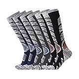 XIKUN Ski Socks Men Women Warm Skiing Socks High Performance Outdoor Winter Sport Socks (Assortment Black X 1 Pair,Dark Grey X 1 Pair,Dark Blue X 1 Pair)