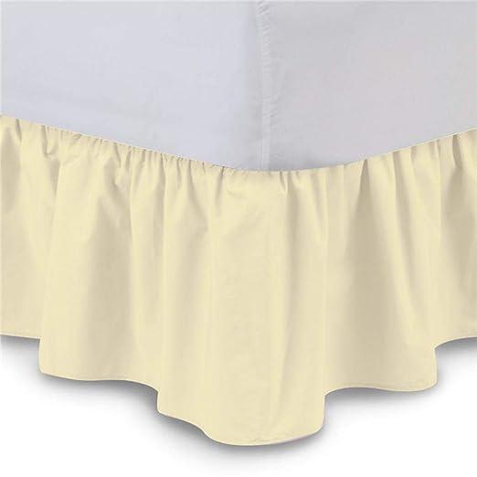 Chengstore Falda de Cama de Color Puro sin Superficie de Cama ...