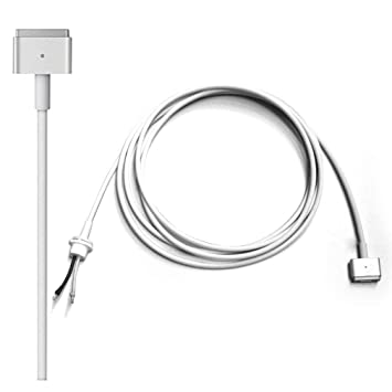 Aursen Compatible para 60W 85W 45W Magsafe 2 Cable de DC reparación, Apple Adapter Cargador Cable T Conector para Apple MacBook Pro (Sólo para MagSafe ...