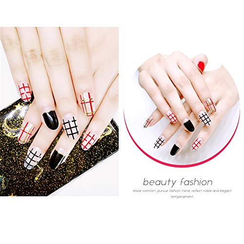 JUZEN 3D Hot Stamping Nail Sticker Self-Adhesive Nail
